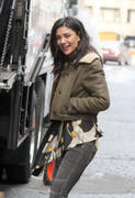 , фото 2. Jessica Szohr on set Women Of Gossip Girl Women Of Gossip Girl in New York, photo 2